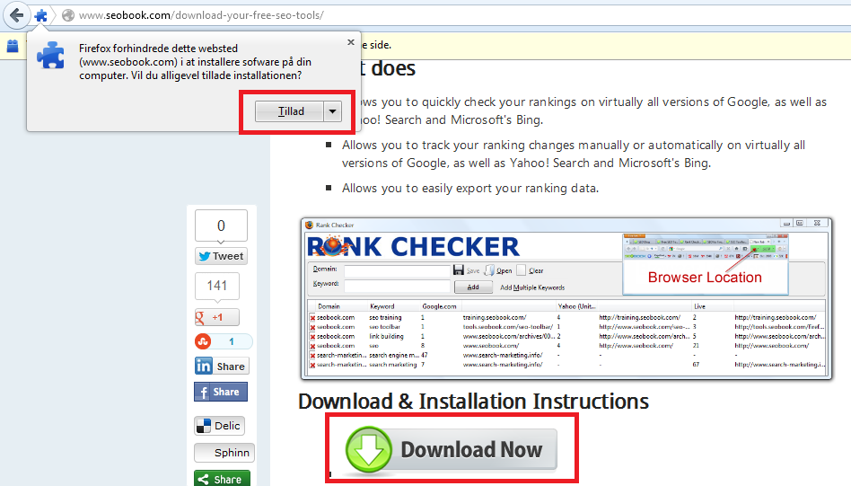 Installer - SEOBook - Rack Checker