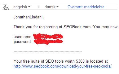 SEOBook e-mail